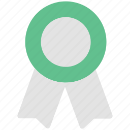 achievement, badge, medal, ribbon badge, winner, winning award icon