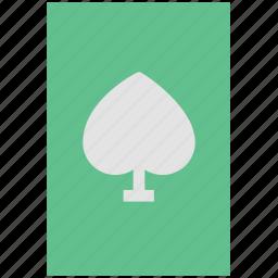 card game, casino, casino card, gambling, playing card, poker card, spade card icon
