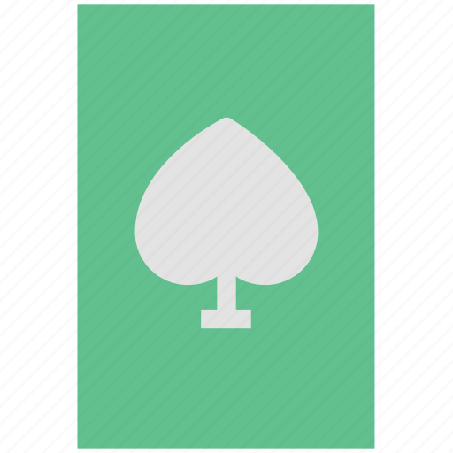 card game, casino, casino card, gambling, playing card, poker card, spade card icon
