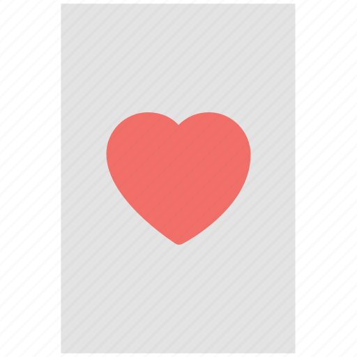 card game, casino, casino card, gambling, heart card, playing card, poker card icon
