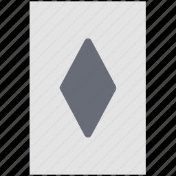 card game, casino, casino card, diamond card, gambling, playing card, poker card icon