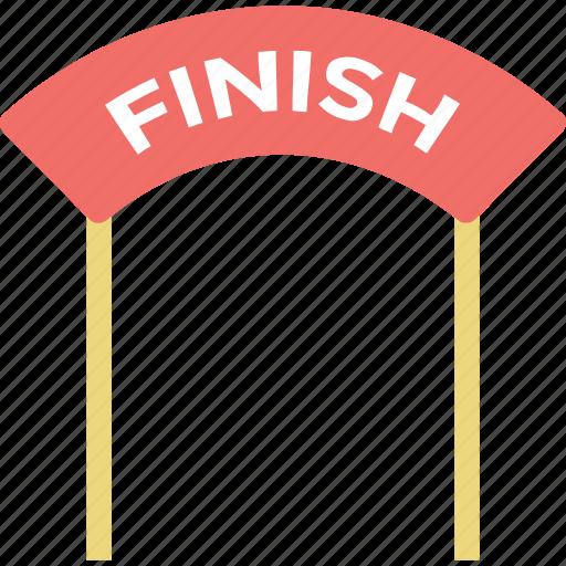finish, finish line, finish race, finish sign, finish signboard icon