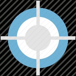 bullet target, focus, pistol target, revolver target, target icon