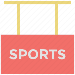 hanging board, signboard, sports, sports info, sports signboard icon