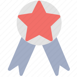 achievement, badge, ribbon badge, winner, winning badge icon