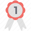 achievement, badge, medal, position badge, ribbon badge, winning award icon