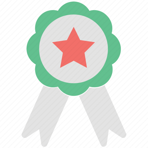 achievement, badge, medal, ribbon badge, winner, winning award icon