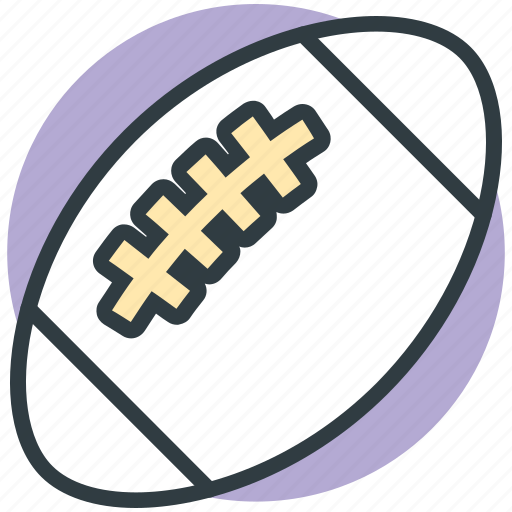 american football, rugby, rugby ball, rugby equipment, sports ball icon