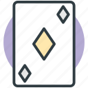 casino, casino card, diamond card, play card, poker card icon
