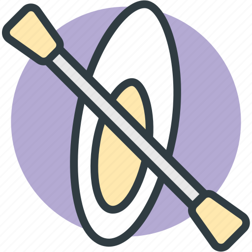boating, canoe, canoe paddle, canoe with oar, canoeing icon