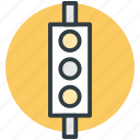 traffic control, traffic lamps, traffic lights, traffic semaphore, traffic signals icon
