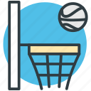 backboard, basketball goal, basketball hoop, basketball net, basketball stand icon