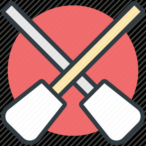 boat oars, kayak paddles, oars, paddles, rowing icon