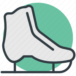 ice skates, ice skating, quad skates, sports, sports equipment icon