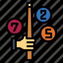 billiard, hand, pool, snooker