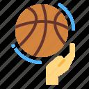 basketball, equipment, hand, sports
