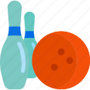 ball, bowling, equipment, sports icon
