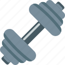dumbbell, equipment, power, sports icon