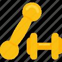 dumbbells, equipment, lifting, power, sports icon
