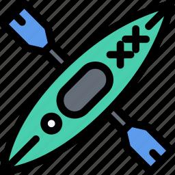 equipment, gym, kayak, sport, training icon
