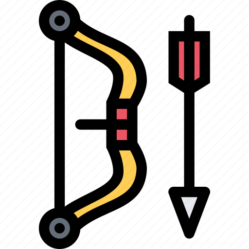 bow, equipment, gym, sport, training icon