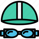equipment, goggles, gym, sport, swimming, training icon