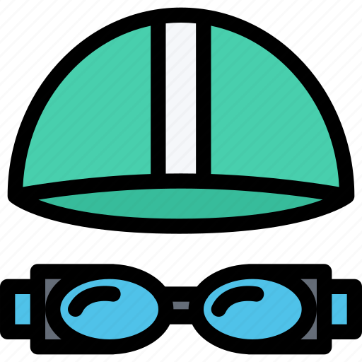 equipment, goggles, gym, sport, swimming, training icon
