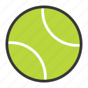 ball, sport, sports, sports equipment, tennis ball icon