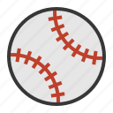 ball, baseball, sport, sports, sports equipment icon