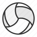 ball, sport, sports, sports equipment, volleyball icon