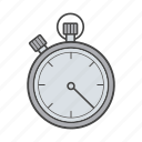 clock, stop, stopwatch, time, timer, watch icon