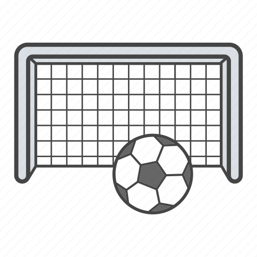 ball, equipment, football, goalpost, net, soccer net, sport icon