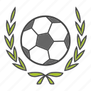 ball, football, laurel, soccer, sport, win, wreath icon