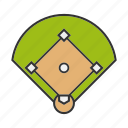 arena, baseball, court, diamond, field, sport, stadium icon