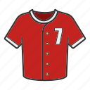 baseball, clothes, polo, shirt, sportwear, t-shirt, uniform icon