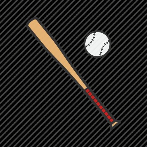 ball, baseball, bat, batting, equipment, hitter, sport icon