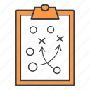 game, plan, solution, strategy, tactic, training icon