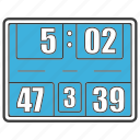 basketball, game, goal, score, score board, score counts, scoreboard icon
