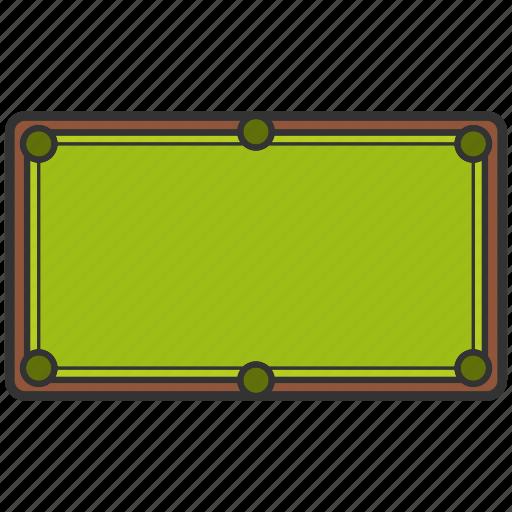 Billiard, board, equipment, snooker, snooker board, table icon