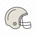 american football, equipment, helmet, rugby, rugger, sport, uniform icon