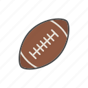 american football, ball, equipment, football, game, rugby, sport icon