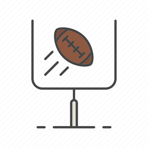 american football, extra point, goal, goalpost, kick, sport, touchdown icon