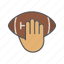 american football, ball, game, hand, kick, rugby, sport icon