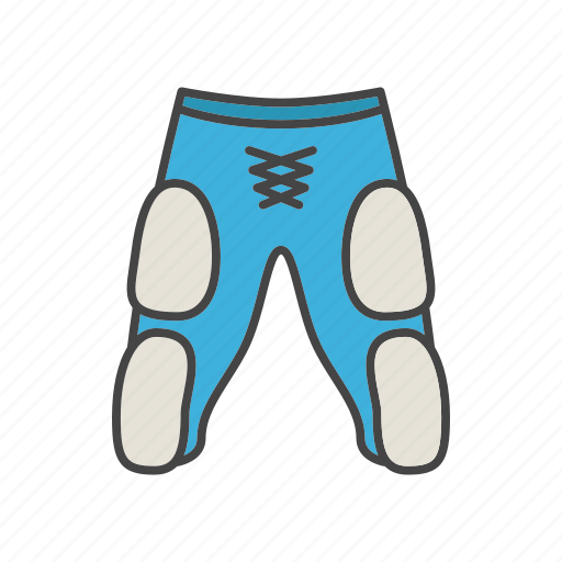 american football, pants, protection, sportswear, trousers, uniform icon