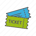 event, game, match, pass, seat, ticket icon