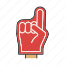 american, fan, finger, foam finger, football, glove, hand icon