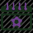 calendar, football, match schedule icon