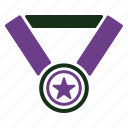award, gold medal, medal, winner icon