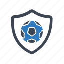 club, football, shield icon