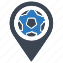 football, locator, pin icon
